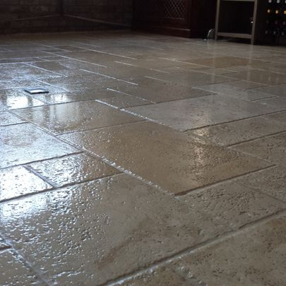 Marble Floor Restoration After Work