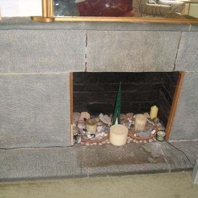 Fireplace before cleaning