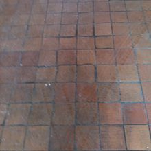 Terracotta Floor Cleaning Before