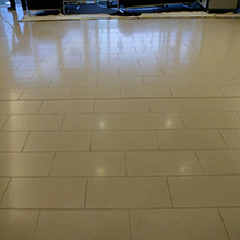 Limestone Floor Clenaing After