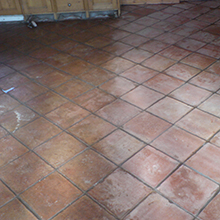 Terracotta Floor Restoration After